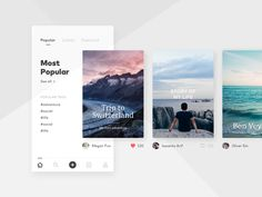 Most Popular Screen - Story App by Thomas Budiman
