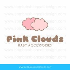 OOAK Premade Logo Design - Pink Clouds - Perfect for a baby accessories brand or a cotton candy shop