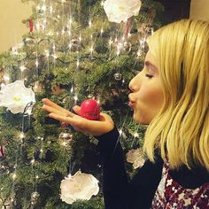 See All the Festive Celebrity Christmas Trees of 2015 - Emma Roberts  - from InStyle.com