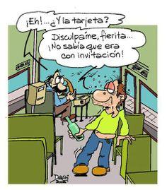 chiste grafico el autobus