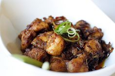 Lemongrass Chicken - I believe this is not the most authentic lemongrass chicken recipe around, but it worked out really well and I enjoyed it, especially the caramelized sweet taste of this dish.