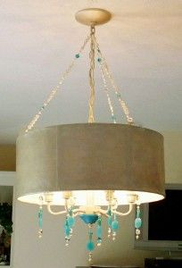 I have this light and am going to do this to make it look pretty