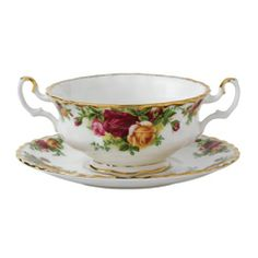 Royal Albert Old Country Roses Cream Soup Saucer