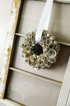 This would be cool to do with newspaper or scrapbook paper... I'd have a hard time destroying a book!