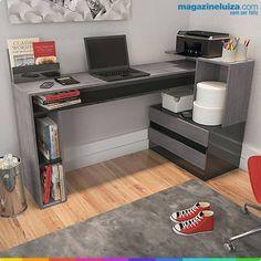 Mesa para Computador com 2 Gavetas da Fiasini por R$350! Clique aqui e aproveite: http://maga.lu/17FldVM   Deixe seu ambiente ainda mais moderno, sofisticado e organizado!