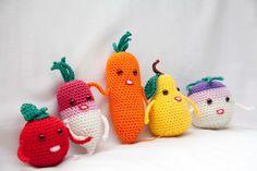 Conjunto de Crochet de fruta y verdura