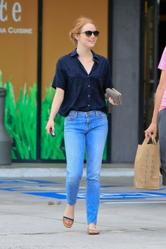 Emma Stone Out in Malibu, September 2015