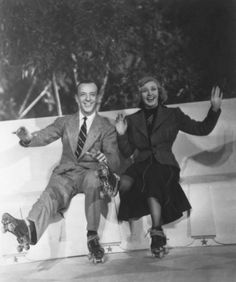 """Fred Astaire and Ginger Rogers in """"Shall We Dance"""" (1937)"""