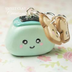 Toaster Toast Kawaii Charm Polymer Clay Jewelry Sweet Clay Creations