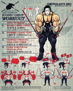 chest workout - iconic chest with sting