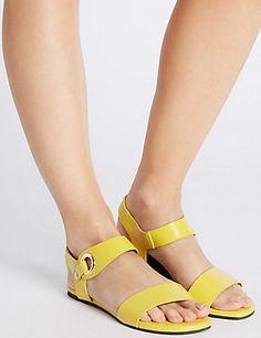 2ec00bfedd8 Block Heel Ring Detail Sandals