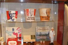 Display at the Kentucky Fried Chicken Museum Colonel Sanders, Kentucky Fried, Salt Lake City Utah, My Old Kentucky Home, Pizza Hut, Great Memories, Kfc, Fried Chicken, Fries