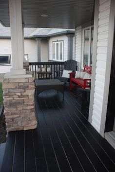 our painted front porch | front porches, porch and decking
