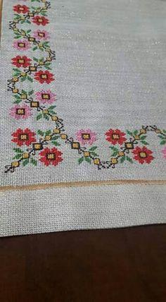 The most beautiful cross-stitch pattern - Knitting, Crochet Love Cross Stitch Letters, Cross Stitch Borders, Cross Stitch Samplers, Modern Cross Stitch, Cross Stitch Flowers, Cross Stitch Designs, Cross Stitching, Stitch Patterns, Hand Embroidery Design Patterns
