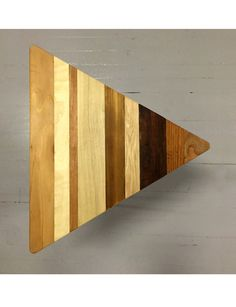 Reclaimed Wood Triangular Modern End Table by Thinkwithoutthebox