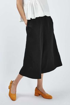 Cropped Wide Culottes by Boutique