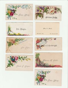 calling cards Vintage