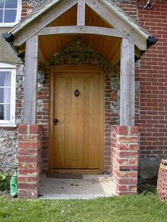 oak cottage door & Bespoke green oak porch front door canopy handmade in shropshire ... Pezcame.Com