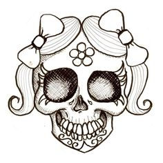 Day+Of+The+Dead+Coloring | Day of the Dead Girl Jaunita