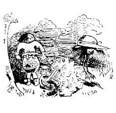 illustrations de wilhelm busch | Hans Huckebein von Wilhelm Busch - Text im Projekt Gutenberg