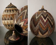 Created by L'aviva home, the Zulu wedding baskets: called ukhamba, are traditionally woven by the bride-to-be or given to the new couple as wedding gifts. during the zulu wedding, the baskets will be used to hold ceremonial beer