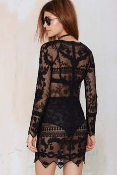Call Out Lace Dress - Black - LBD | Going Out | Lace Dresses