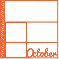 Silhouette Design Store: October Scrapbook Page / Template / Layout Scrapbook Box, Scrapbook Quotes, Recipe Scrapbook, Scrapbook Titles, Scrapbook Templates, Scrapbook Designs, Scrapbook Supplies, Scrapbooking Layouts, Scrapbook Organization
