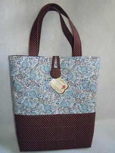 Bolsa Dri - grande   Azul com marrom, combinação perfeita! :…   Flickr