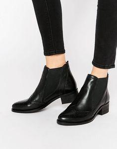 Park Lane | Park Lane Brogue Leather Chelsea Boots