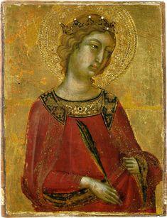 St. Catherine of Alexandria  --  Circa 1331-45  --  Niccolo di Segna  --  Italian, Siena  --  Tempera on panel w/ gold ground  --    Pinacoteca Nazionale di Siena