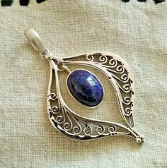 #LapisLazuliPendant #925Silver #BohemianPendant #ExclusivePendant #UniquePiece #LapisLazuliPendant #925SterlingSilver #DesignerSilverPendant #BirthstoneJewelry #LapisJewelry #NaturalLapisPendant Lapis Lazuli Pendant, Birthstone Jewelry, 925 Silver, Gemstone Rings, Gemstones, Unique, Gems, Jewels, Minerals