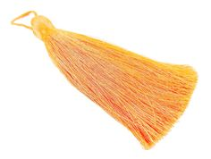 Extra Large Thick Neon Orange Silk Thread Tassels  by LylaSupplies, $2.50