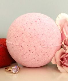 Loving this Strawberries & Champagne Ring Bath Bomb on #zulily! #zulilyfinds