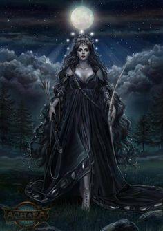 Nyx- Roman ( em latim) : Nox - é a deusa grega (ou personificação ) da noite. Uma figura sombria , Nyx situou-se em ou perto do início da criação, e foi a mãe de outras divindades personificadas como Hypnos ( Sono ) e Thanatos (morte) . Suas aparições são escassos em sobreviver mitologia, mas revelar -la como uma figura de tal poder excepcional e beleza, que ela é temido pelo próprio Zeus. Ela é encontrada nas sombras do mundo e só vi de relance .