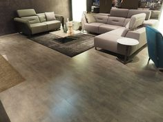 Laminate Vision Syncro Oxid Real Cool Grey - Salone del Mobile 2018 Bungalows For Sale, Real Estate, Flooring, Cool Stuff, Grey, Home Decor, Gray, Decoration Home, Room Decor