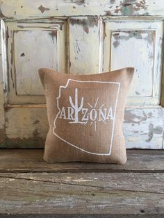 burlap pillow arizona burlap pillow by on etsy