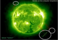 Giant UFOs near the Sun in the review of the September 16, 2014