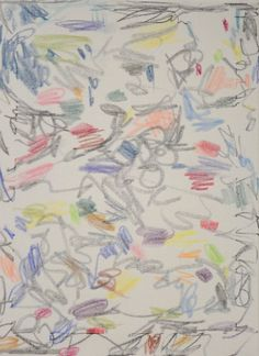 """""""DIE WIESE EIN MEER, DIE WIESE EIN HIMMEL"""", 2015  Wachspastell auf Leinwand, 40 x 30 cm Collection, Heavens, Pastel, Canvas"""