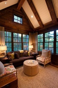 LIVING ROOM & FAMILY ROOM – Reclaimed Natural Wonder - rustic - family room - other metro - Morgan-Keefe Builders, Inc.