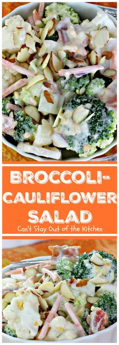 Cucumbers in Sour Cream Cucumbers in Sour Cream Shawn mccoy food Broccoli-Cauliflower Salad Can t Stay Out of the Kitchen We loved nbsp hellip salad with sour cream Broccoli Cauliflower Salad, Raw Broccoli, Cauliflower Casserole, Creamy Cauliflower, Cauliflower Pizza, Roasted Cauliflower, Cauliflower Recipes, Sour Cream Cucumbers, Marinated Cucumbers