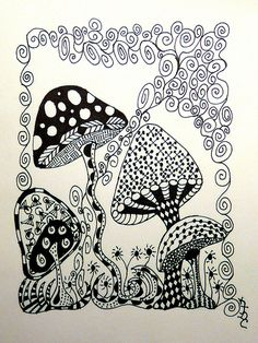 Nice mushrooms Abstract Doodle Zentangle ZenDoodle Paisley Coloring pages… Doodle Art, Tangle Doodle, Tangle Art, Zen Doodle, Doodles Zentangles, Zentangle Drawings, Doodle Drawings, Doodle Sketch, Doodle Patterns