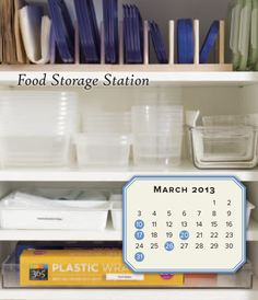 12 Months of Organizing presents: the Kitchen Storage Solutions 2013 Desk Calendar