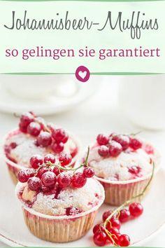 Köstliche Johannisbeer-Muffins, das Rezept zu den leckeren Mini-Küchlein. #rezepte #johannisbeermuffins #muffins