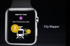 Transport mobile Application City Mapper on the Apple Watch