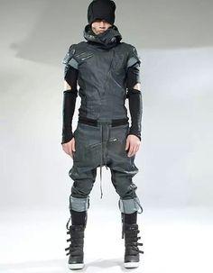 Visions of the Future // Demobaza Cyberpunk Mode, Cyberpunk Clothes, Cyberpunk Fashion, Fashion Moda, Mens Fashion, Apocalypse Fashion, After Earth, Post Apocalyptic Fashion, Pantalon Cargo