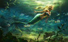 Mermaid by anotherwanderer.deviantart.com on @DeviantArt