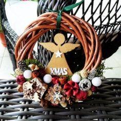 Angyalkás karácsonyi kopogtató Xmas, Christmas, Navidad, Noel, Natal