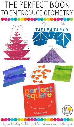 "See how the book ""Perfect Square"" by Michael Hall can help your students learn more about shapes and geometry. Plus there's a FREE download that will work perfect with your Kindergarten, 1st, 2nd, 3rd, or 4th grade classroom or homeschool students. Great for your next math lesson!! (Kinder, first, second, third, fourth grader freebie)"