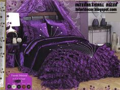 Purple velvet bedding, luxury purple bedding and duvet cover with duvet sets.