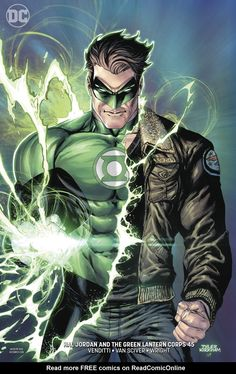 Hal Jordan and The Green Lantern Corps 23 - 45 Variant DC Comics Rebirth 2018 for sale online Arte Dc Comics, Dc Comics Superheroes, Dc Comics Characters, Comic Book Heroes, Dc Heroes, Comic Books Art, Comic Art, Green Lantern Comics, Green Lantern Hal Jordan